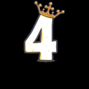 Geburtstag 4 Jahre Geschenk König Königin