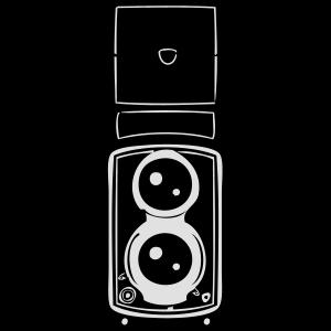 Alte retro Kamera in schwarz weiß
