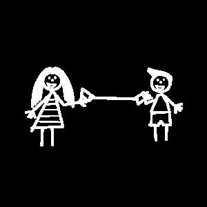 Junge Mädchen Spielen Freundschaft Blechtelefon