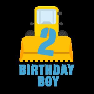 birthday boy 2 Loader digger excavator gift idea