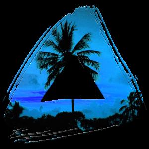 Palme Blau Dreieck