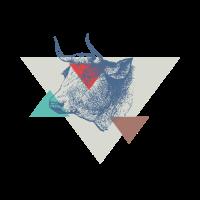 Kuh Dreieck Design