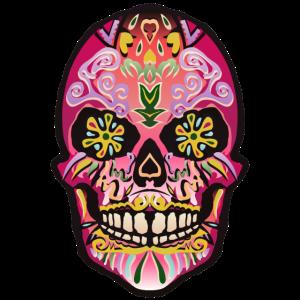 Mexikanischer mexikanischer Schädelschädelphantasietodeskopf