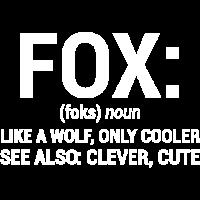 Lustiger witziger Fox-Substantiv wie ein Wolf-T-Shirt