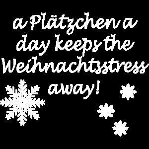 Weihnachtsshirt Weihnachten Schnee- A Plätzchen