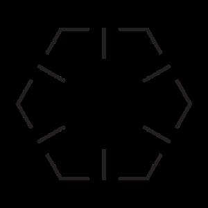 Minimalistisches Hexagon