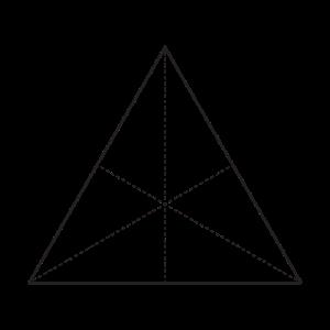 Minimalistisches Dreieck