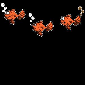 Fische im Wasser - Pupser - lustiges Design