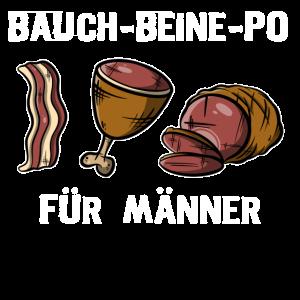 Bauch-Bein-Po - Für Männer, Grillfleisch VS Sport