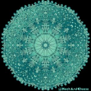 "Künstlerische ""Jade"" Mandala / Künstlerische Jade Mandala"