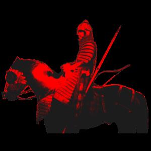 Mongolen Krieger auf dem Schlachtross