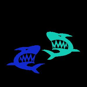 Haie Shark blau