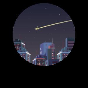 Sternschnuppe Geschenk Silhouette Skyline Himmel