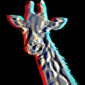 Giraffe with 3D-Effect