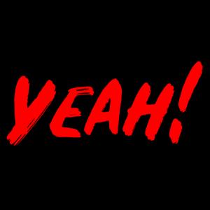 Yeah! Rote Schrift