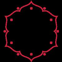 Blume des Lebens - punched - Lotus