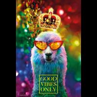 01 Lama GOOD VIBES ONLY Luxus Poster Margarita Art