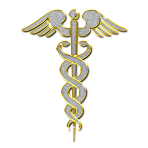 Caduceus (Arzt) Schmuck Kette Anhänger Bling Bling