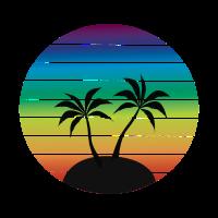 Paradise Sunset / Sommer, Fernweh, geschenkidee