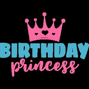 Geburtstag Mädchen Prinzessin Krone Geschenk Motiv
