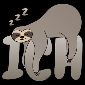 Faultier Sloth Ich ZZZ Schlafen Chillen Lustig