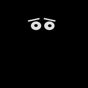 Gabel Monster Geschenkidee gruselig Silhouette