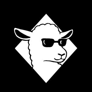 Cooles Schaf mit Sonnenbrille Mäh Wolle