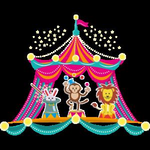Zirkus - Affenzirkus - Zirkustiere Hase Löwe