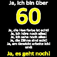 Ueber 60 geburtstag spruch lustig shirt geschenk g