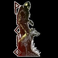 Wikinger und Wolf