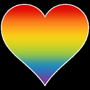 Herz Regenbogen Homosexualität LGBT Farbverlauf ws