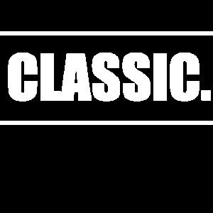 Classic Schriftzug mit Rahmen in weiß