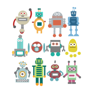 Nerd Roboter Retro lustig Geschenk Technik spielen