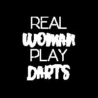 REAL WOMAN PLAY DARTS GESCHENKIDEE DARTSHIRT