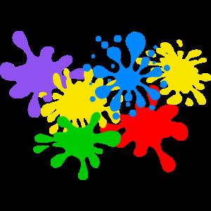 Farbkleckse Kleckse Farbspritzer Maler Künstler