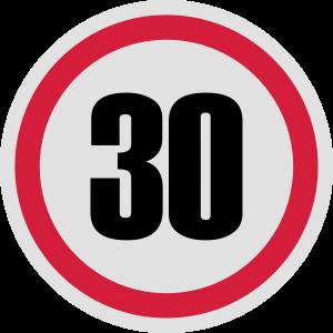 30. Geburtstag Verkehrsschild