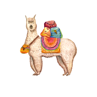 Adventure You Say? Alpaca My Bags - Watercolor
