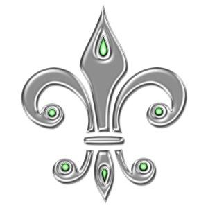Fleur de Lis, digital silber, Trinity Symbol, Rit