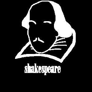 Shakespeare Kopf (in weiß) - Geschenkidee