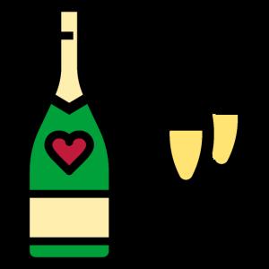 Champagner oder Sekt zum Valentinstag