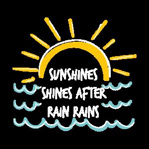 Sonnenschein scheint nach Regenfällen Geschenkidee