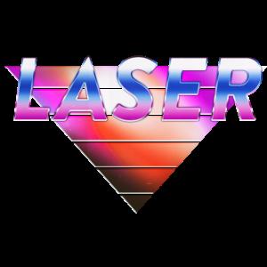 LASER Pyramide | 80er Jahre / Retro Style