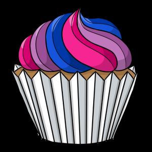Bisexuell Stolz Cupcake