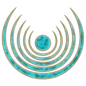 "Moon amulet ""Blue Moon"" - intuition, creativity and media skills, digital, protection symbol"