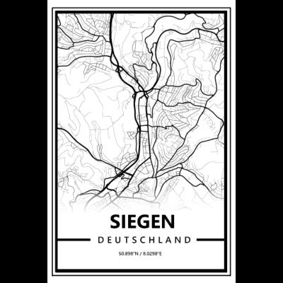 Siegen - Karte - Map - Das Shir für alle die aus Siegen kommen - map,burbach,karte,siegerland,weidenau,Siegen,geisweid,siegen,Karte,karten,sportfreunde
