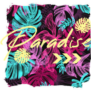 Paradies Palmen Blätter Print