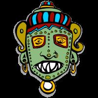 Tribal Maske kopf gesicht indianer inka maya