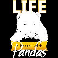 Das Leben ist besser mit Pandabären