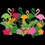 AL Flowers & Flamingos