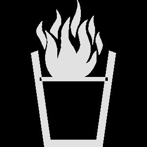 Brennende Flüssigkeit im Glas